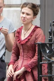 Millie Bobby Brown - Filming Enola Holmes in London