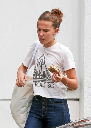 Millie Bobby Brown - Leaving a Cafe in Los Angeles