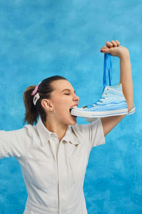 Millie Bobby Brown - pose for Converse