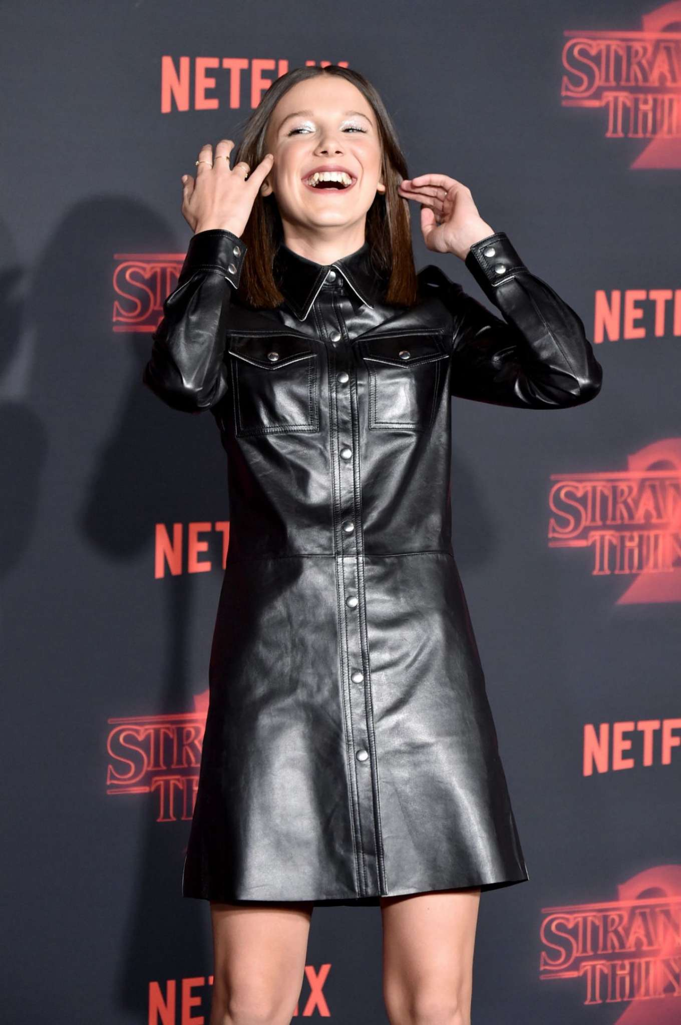 Millie Bobby Brown Stranger Things 2 Premiere In Los