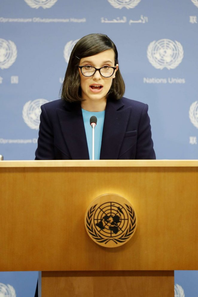 Millie Bobby Brown - UNICEF Press Conference as the youngest goodwill ambassador in NY
