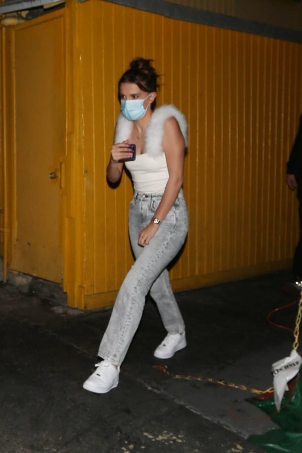 Millie Bobby Brown - Wears a face mask in West Hollywood