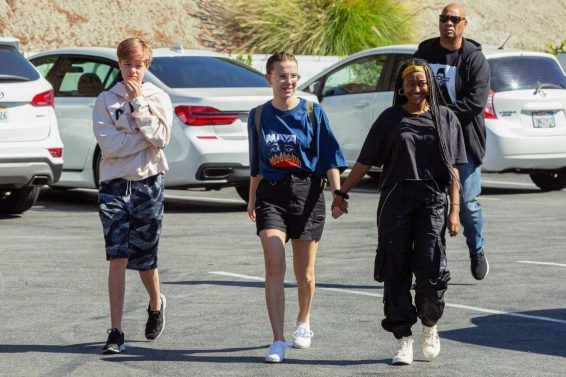 Millie Bobby Brown, Zahara and Shiloh Jolie-Pitt - Grab lunch together in Los Angeles