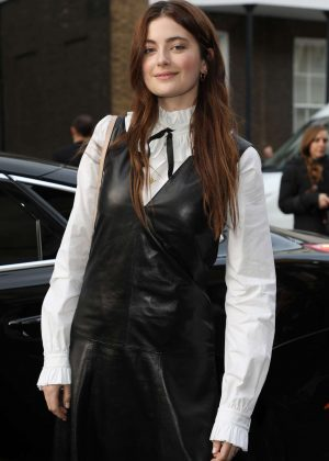 Millie Brady - Arrives at Mulberry Show 2018 in London