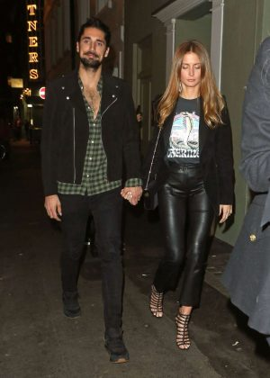 Millie Mackintosh and Hugo Taylor - Leaves Soho House in London