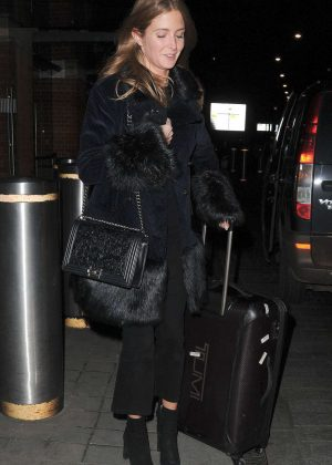 Millie Mackintosh at Eurostar Train Station in London