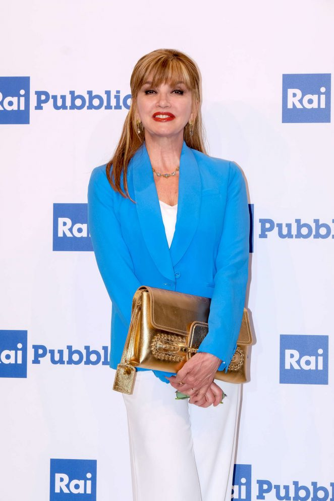 Milly Carlucci - Rai Show Schedule Presentation in Rome