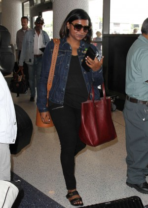 Mindy Kaling - LAX airport in LA