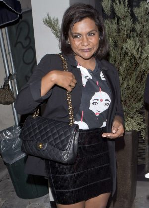 Mindy Kaling Leaving 'Catch' Restaurant in West Hollywood
