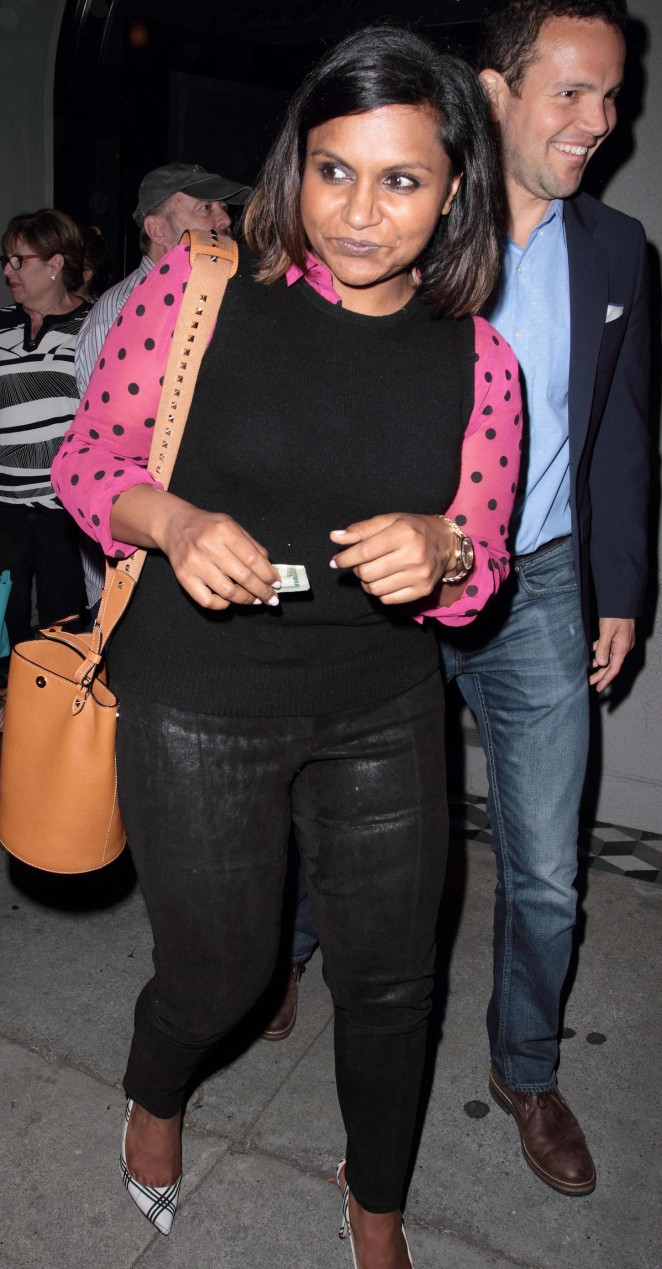 Mindy Kaling - Night out in Hollywood