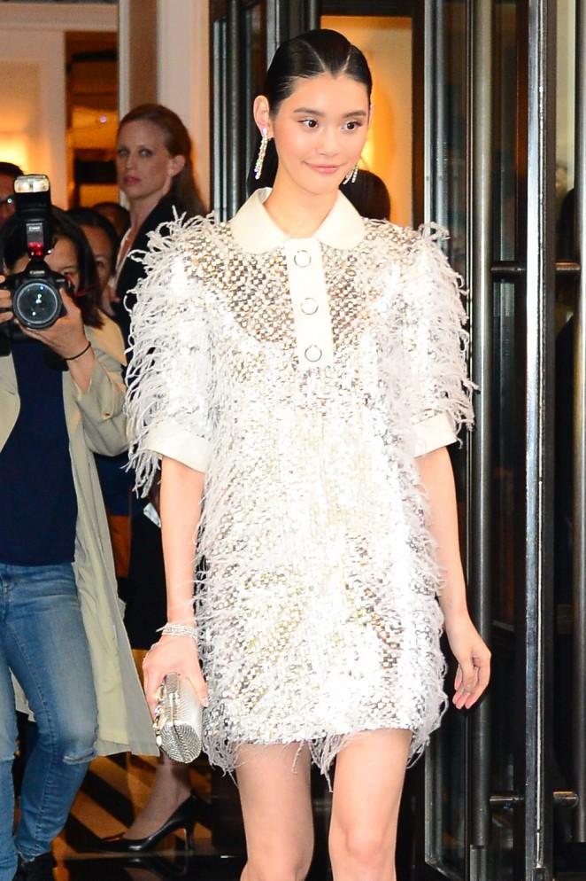 Ming Xi - Arriving at 2016 Met Gala in NYC