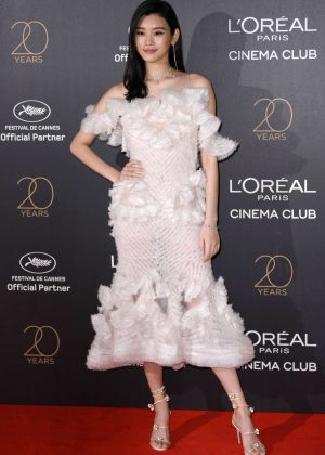 Ming Xi - L'Oreal 20th Anniversary Party in Cannes