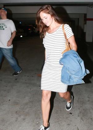 Minka Kelly - Arrives at ArcLight Cinemas in Hollywood