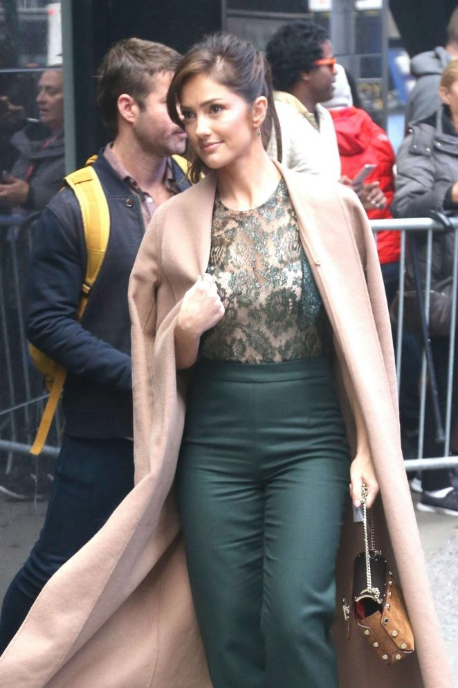 Minka Kelly - Arrives at Good Morning America in New York