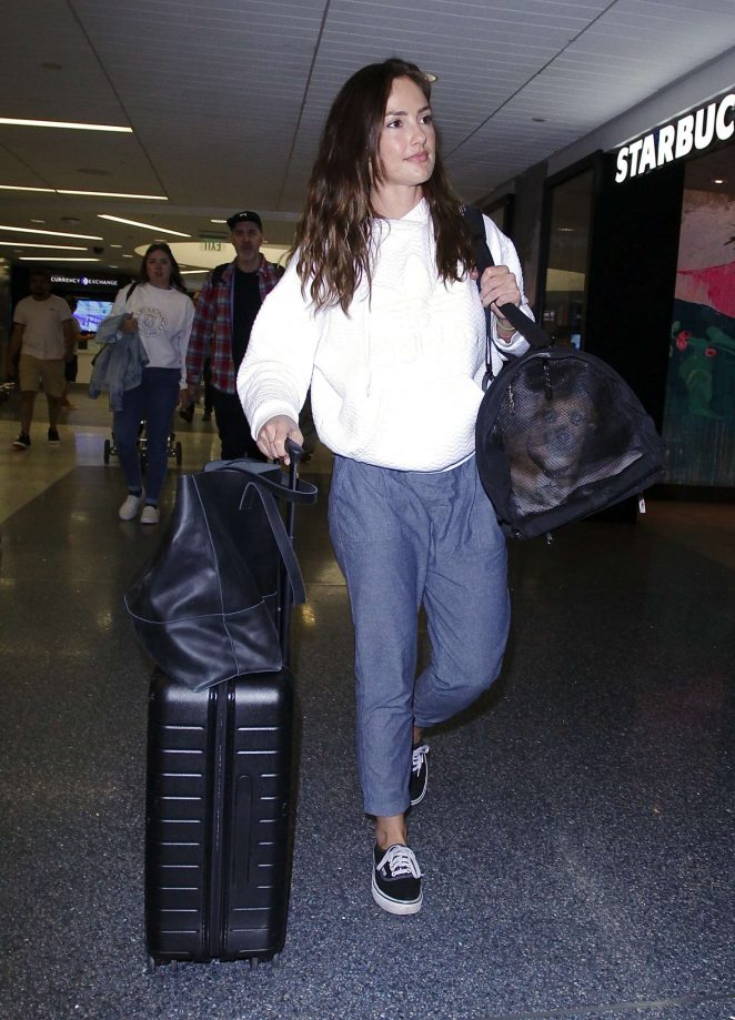 Minka Kelly - Arriving at LAX Airport in Los Angeles