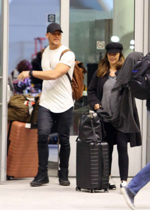 Minka Kelly - Arriving with Alan Ritchson in Toronto