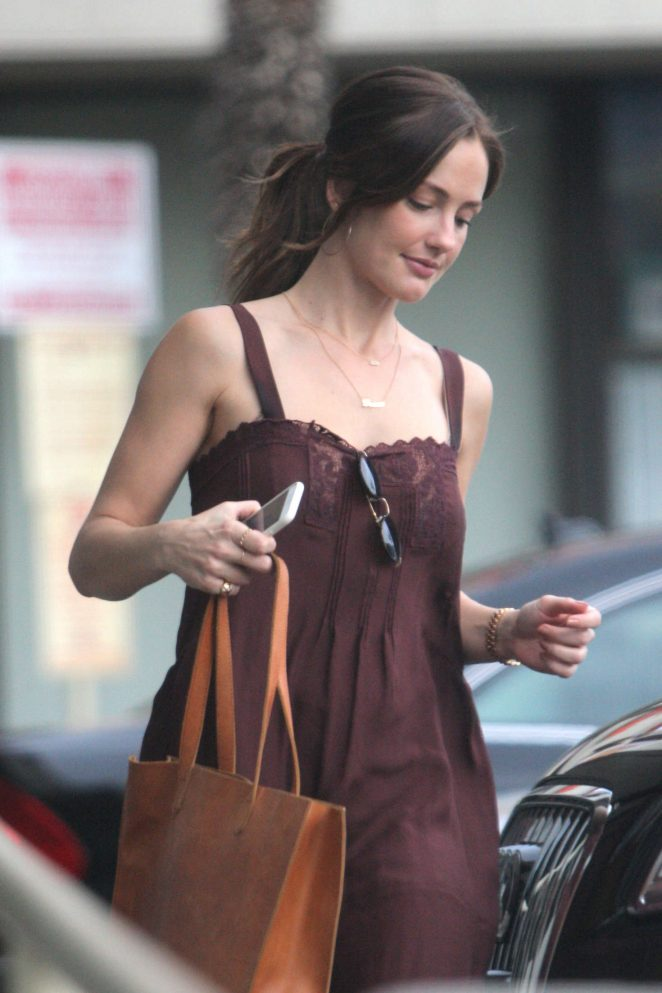 Minka Kelly at a Gas Station in West Hollywood