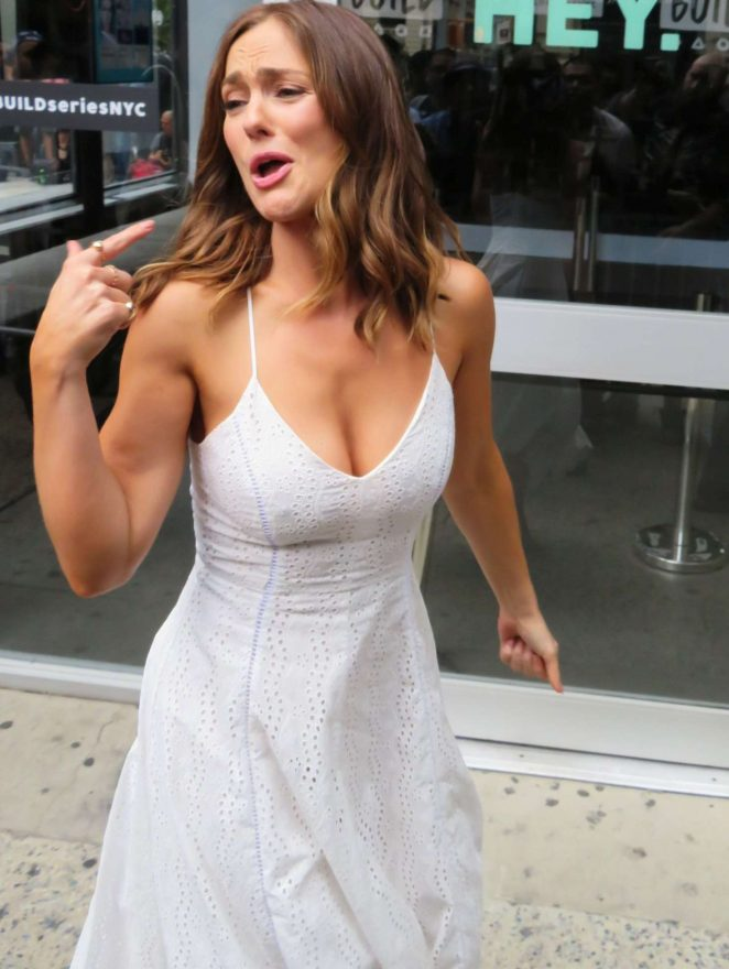 Minka Kelly at AOL Build Studios in NYC