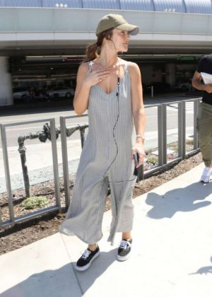 Minka Kelly at LAX Airport in Los Angeles