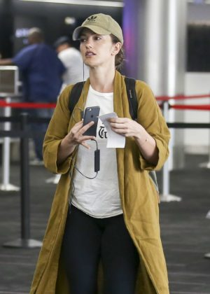 Minka Kelly at LAX International Airport in Los Angeles