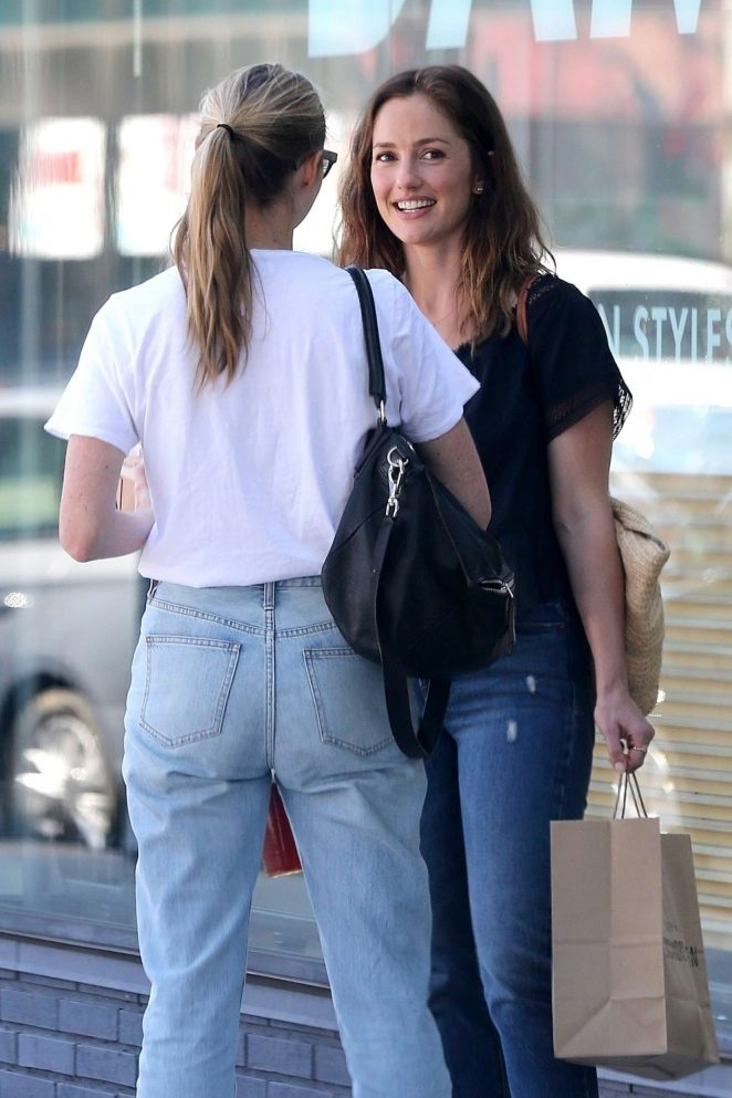 Minka Kelly at Sycamore Kitchen in Hollywood