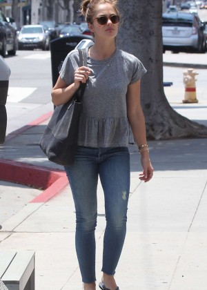 Minka Kelly in Jeans at Beauty Park in Brentwood