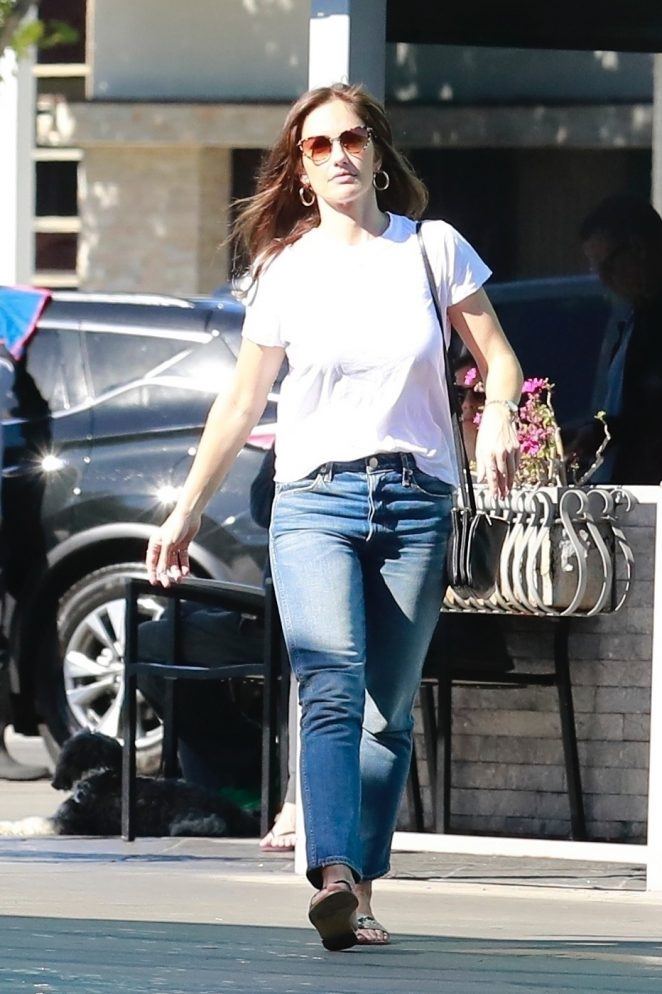 Minka Kelly in Jeans - Out in Studio City