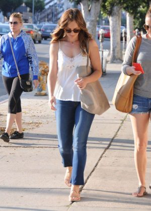 Minka Kelly in Jeans out in West Hollywood