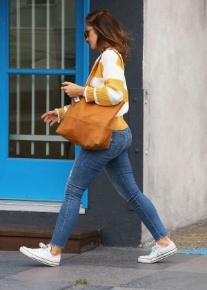 Minka Kelly in jeans while out in West Hollywood