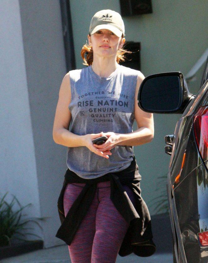 Minka Kelly in Leggings Leaves a Gym in Los Angeles