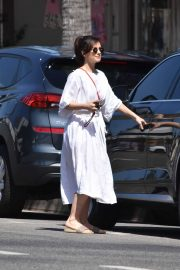 Minka Kelly in Long Dress - Out and about in LA