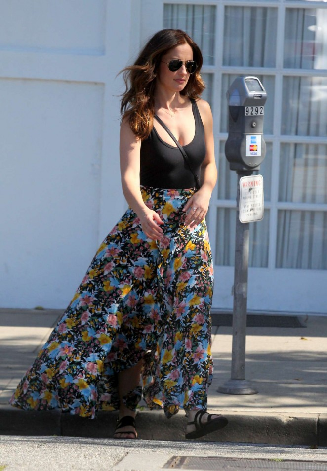 Minka Kelly in Long Skirt out and about in LA