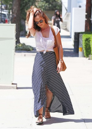 Minka Kelly in Long Skirt Out in West Hollywood