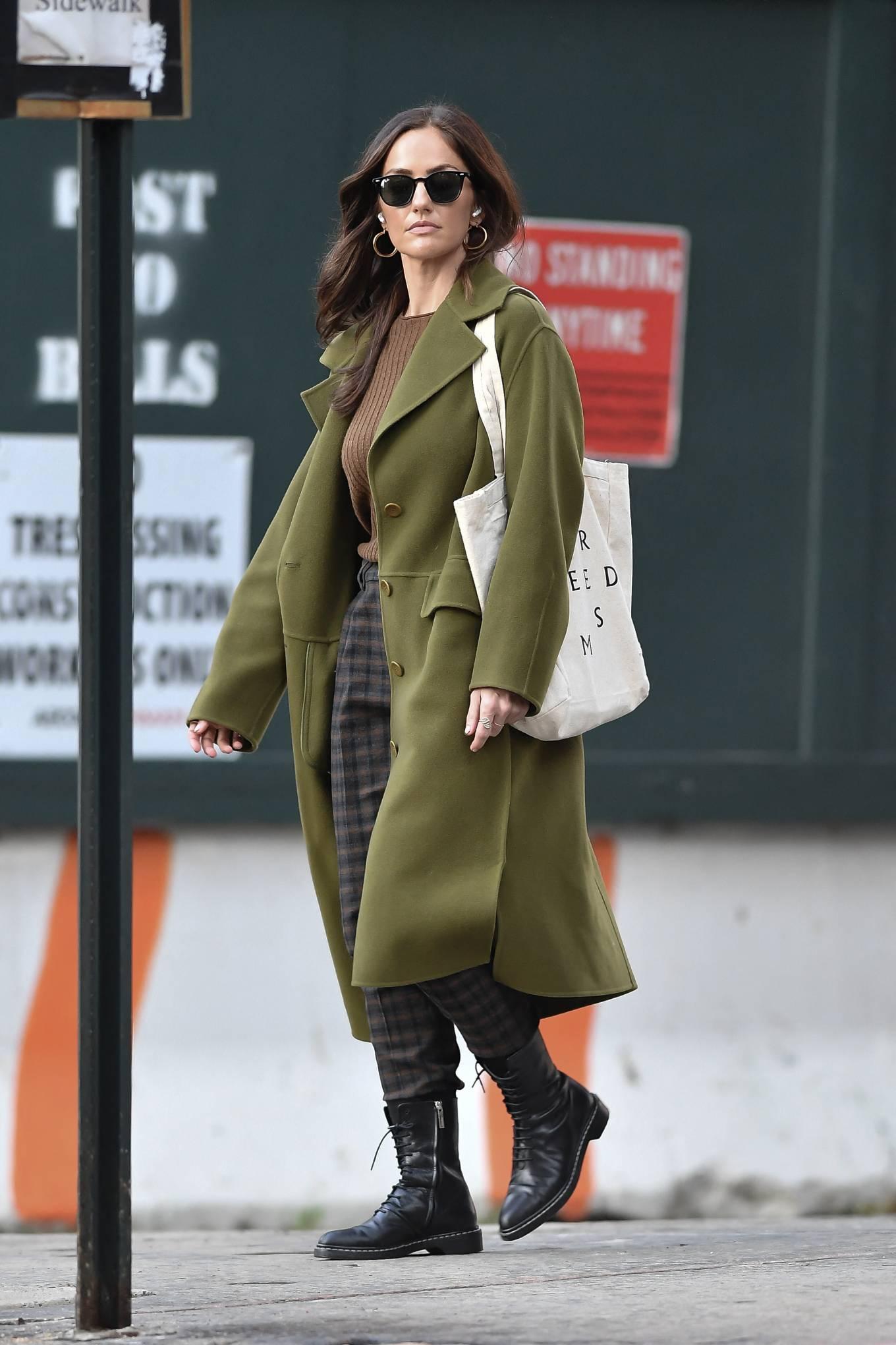 Minka Kelly 2021 : Minka Kelly – In olive green runs errands in New York-05