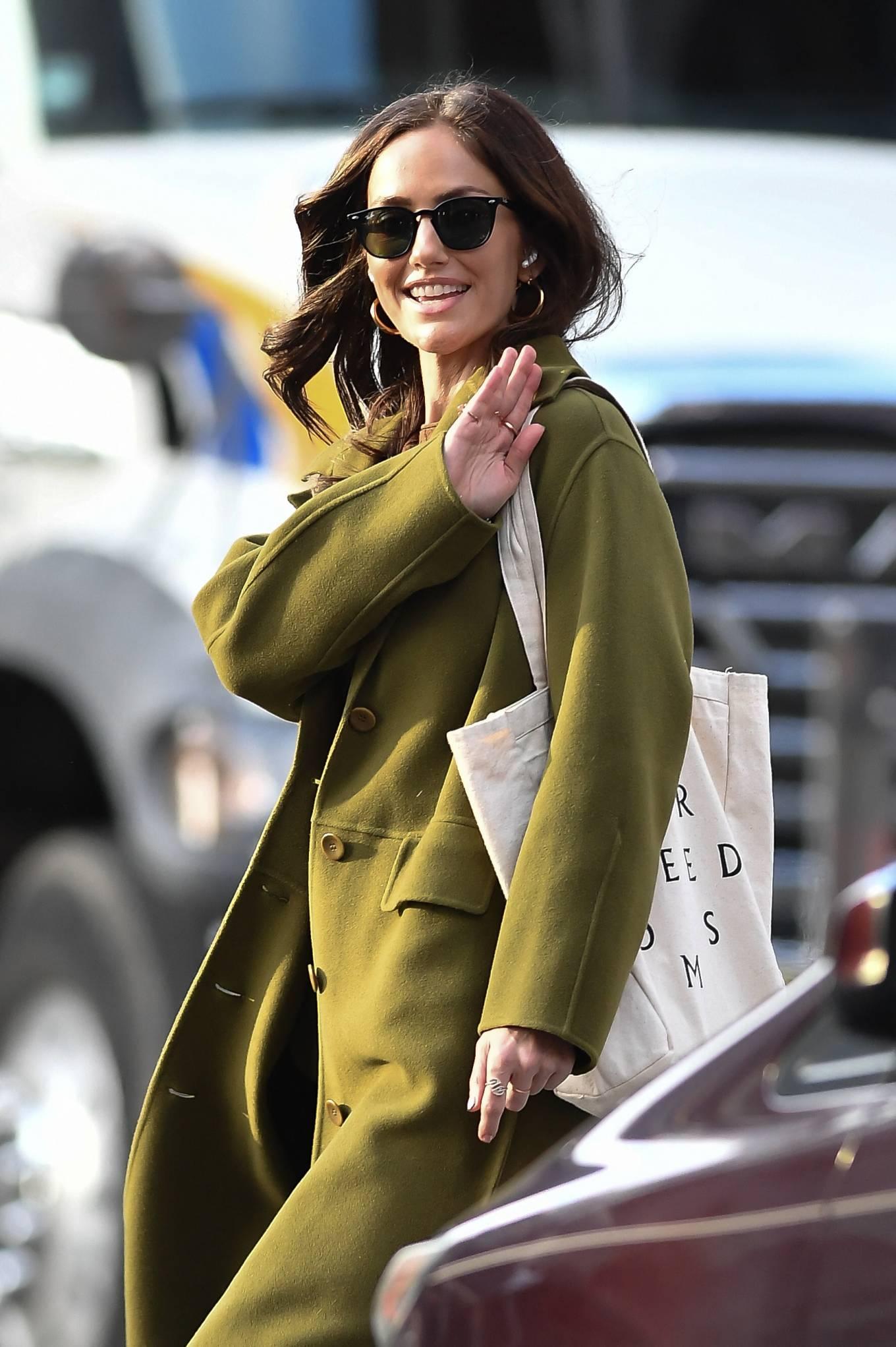 Minka Kelly 2021 : Minka Kelly – In olive green runs errands in New York-07