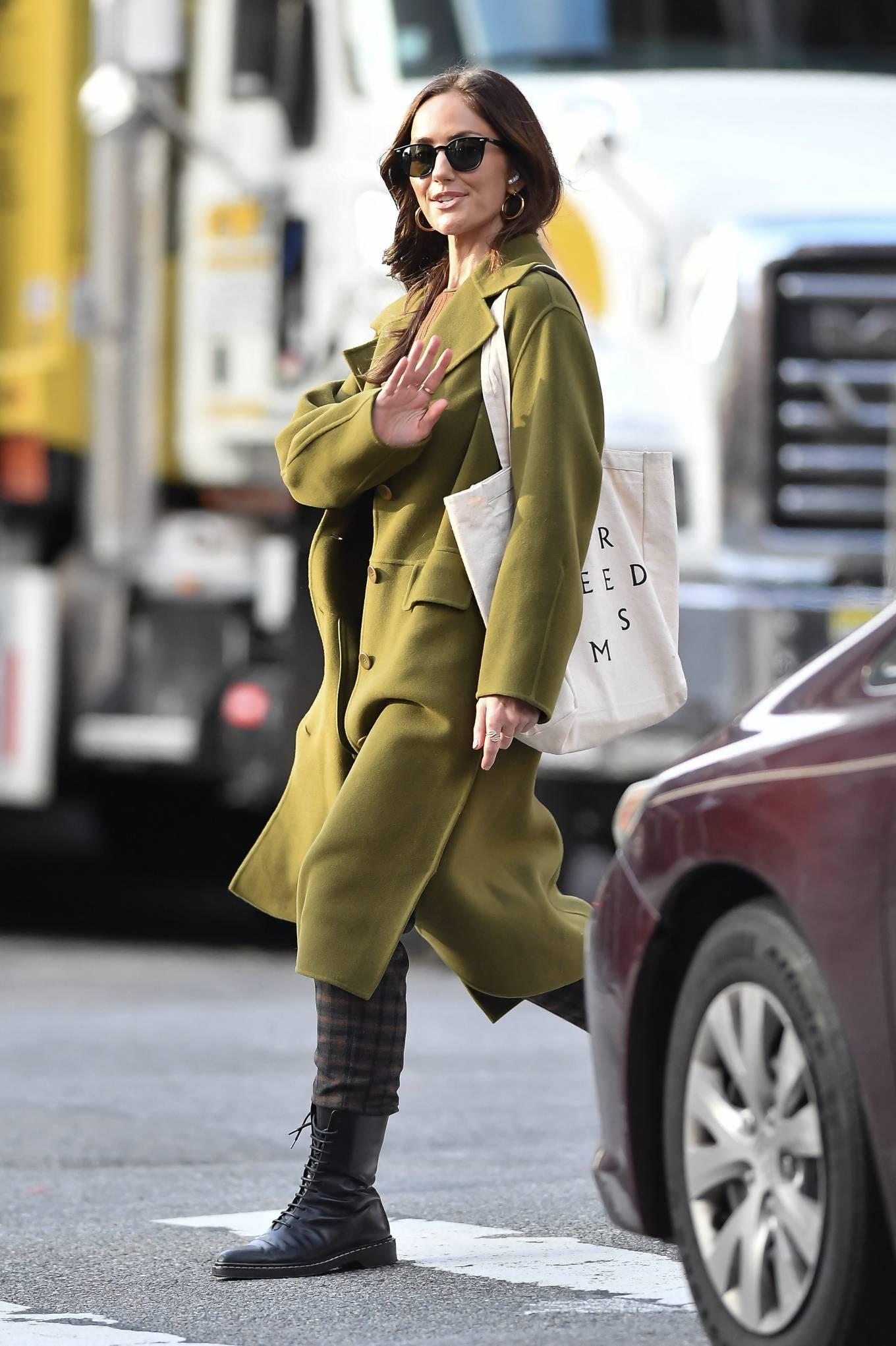 Minka Kelly 2021 : Minka Kelly – In olive green runs errands in New York-18