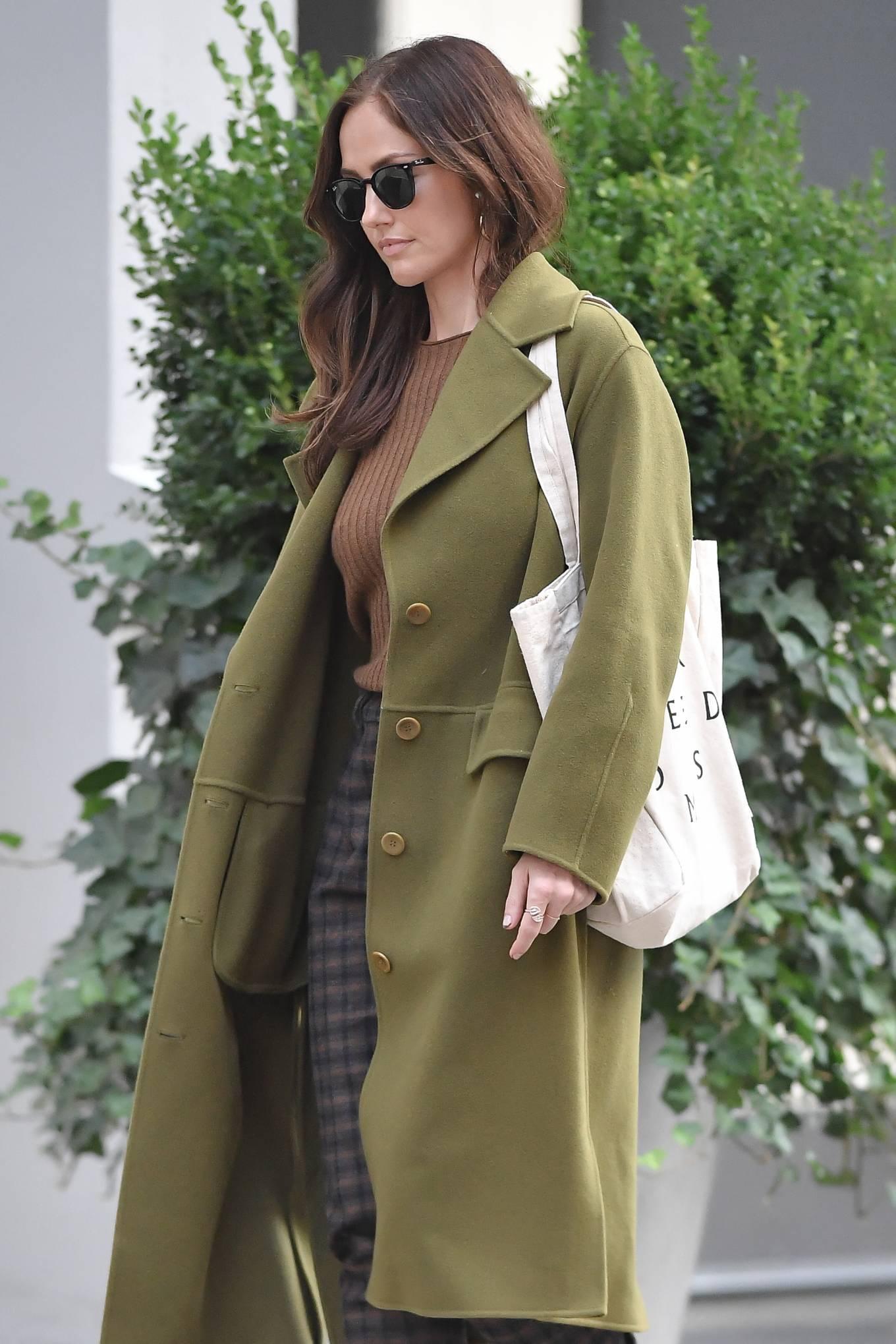 Minka Kelly 2021 : Minka Kelly – In olive green runs errands in New York-24