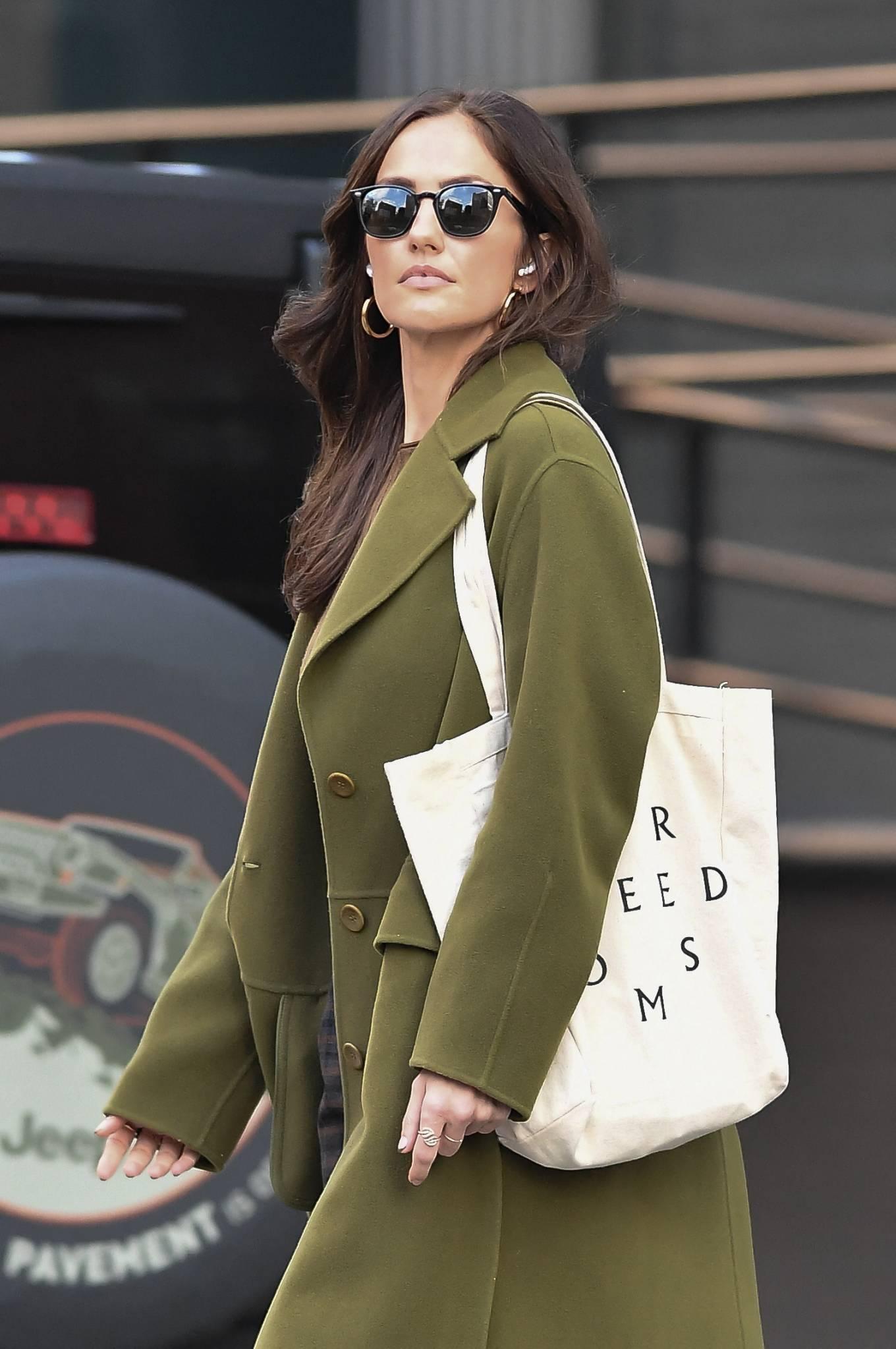 Minka Kelly 2021 : Minka Kelly – In olive green runs errands in New York-30