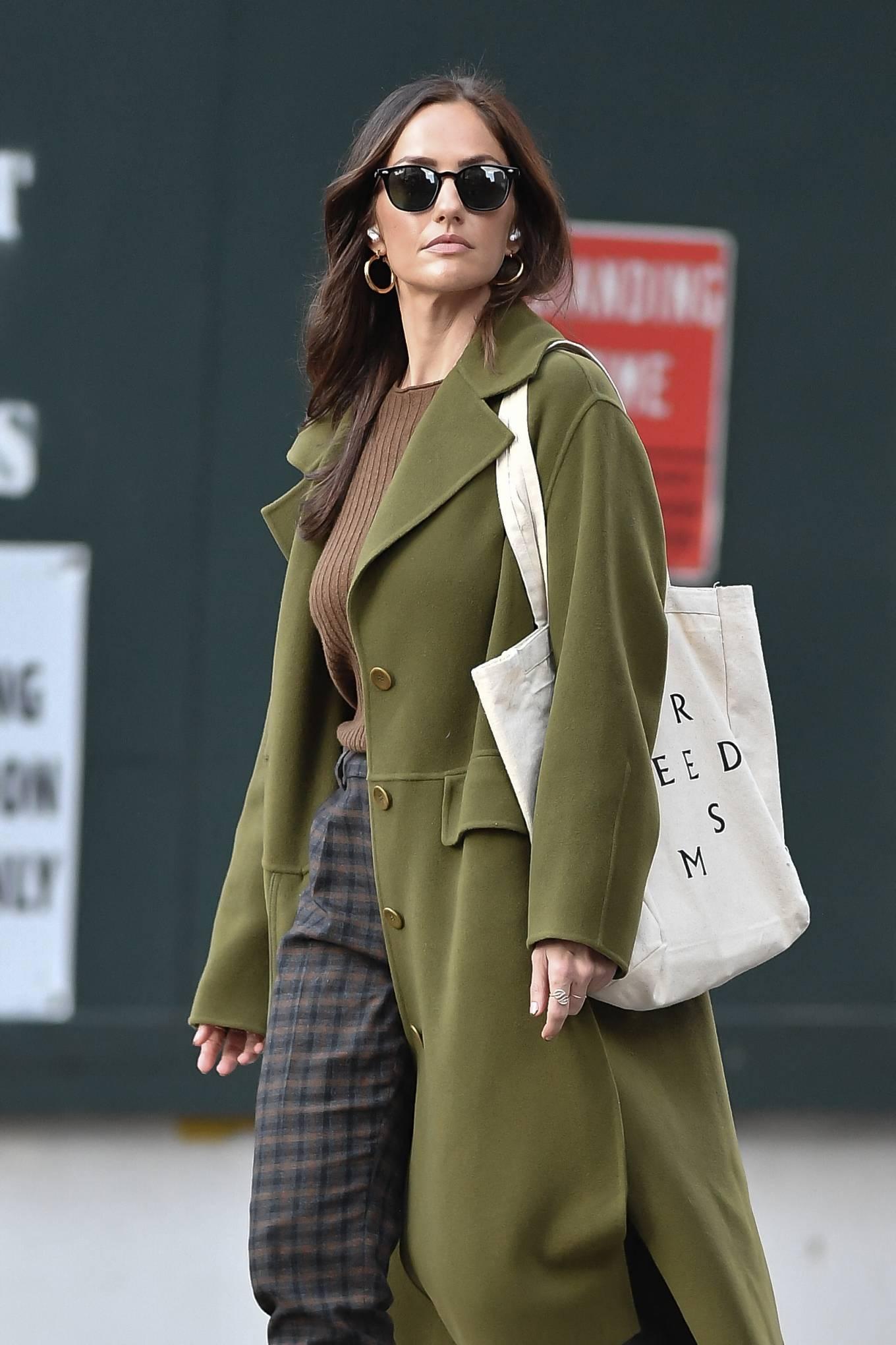 Minka Kelly 2021 : Minka Kelly – In olive green runs errands in New York-33