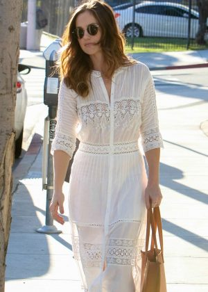 Minka Kelly in White Dress out in West Hollywood