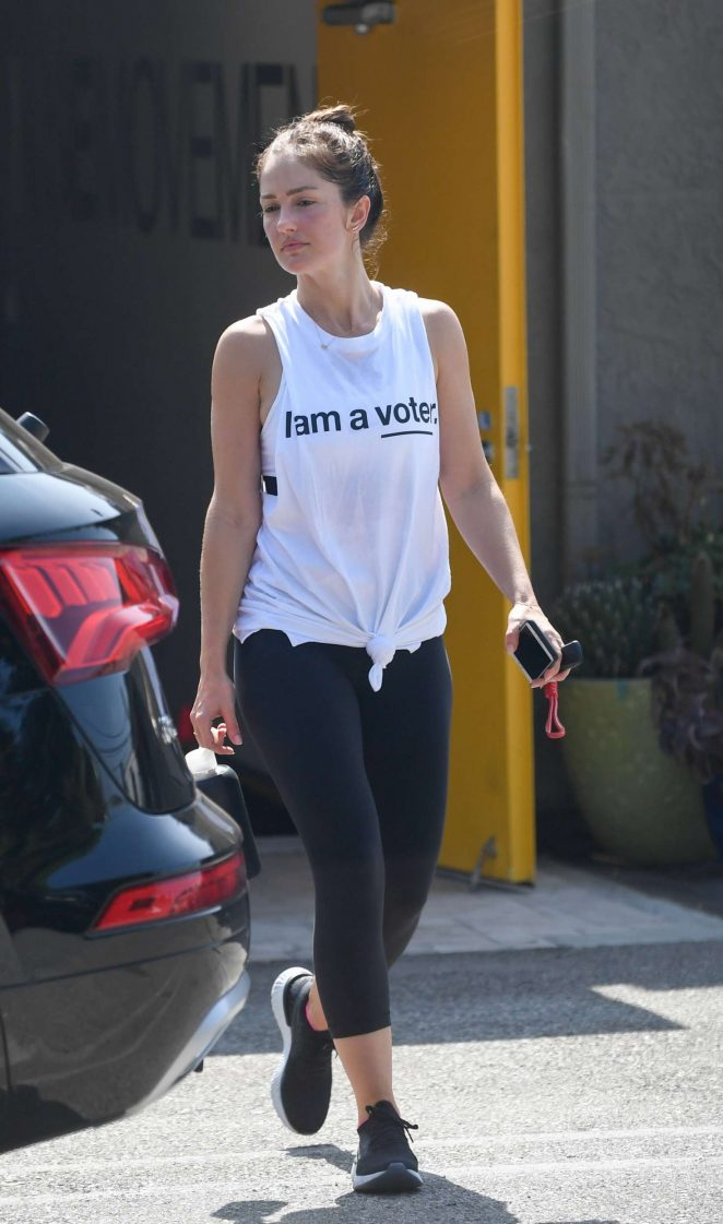 Minka Kelly - Leaves her gym in West Hollywood