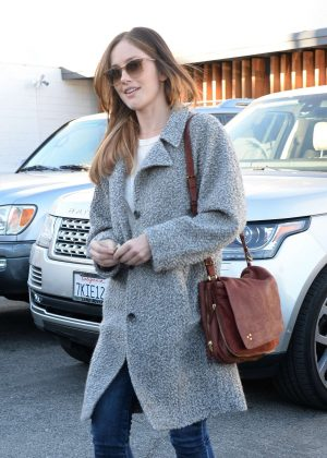 Minka Kelly Leaves the salon in West Hollywood