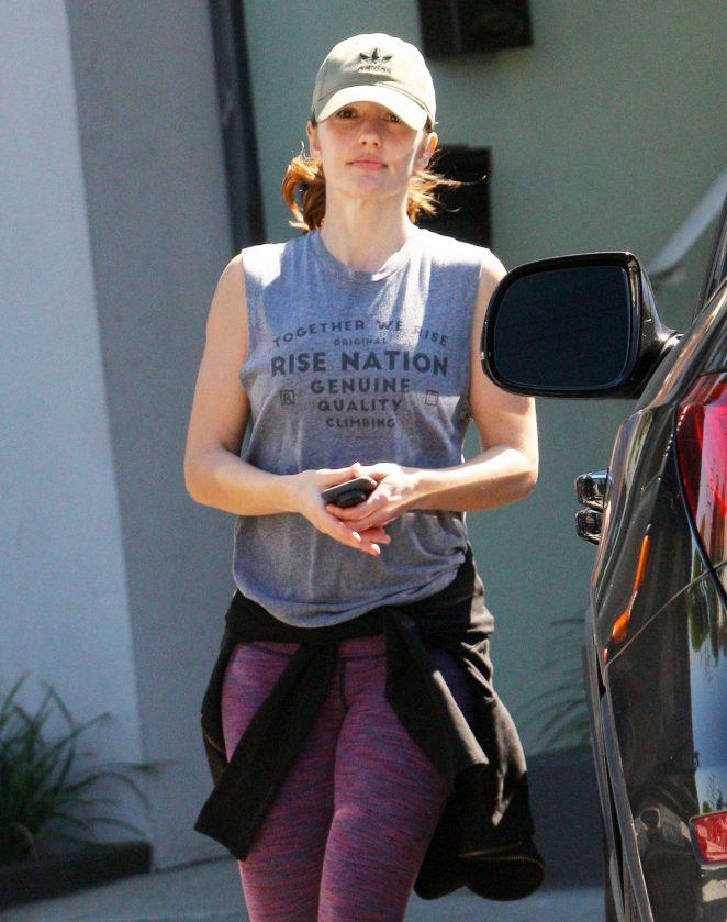 Minka Kelly - Leaving a gym in LA
