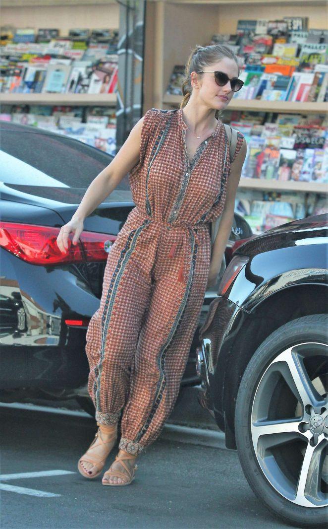 Minka Kelly - Leaving a Restaurant in West Hollywood