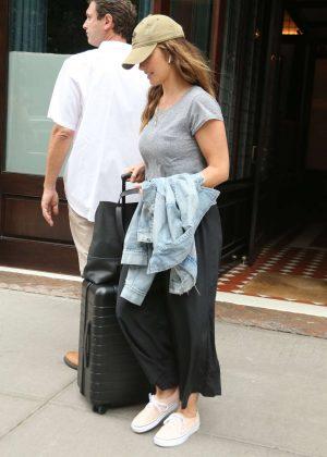 Minka Kelly - Leaving Greenwich Hotel in New York