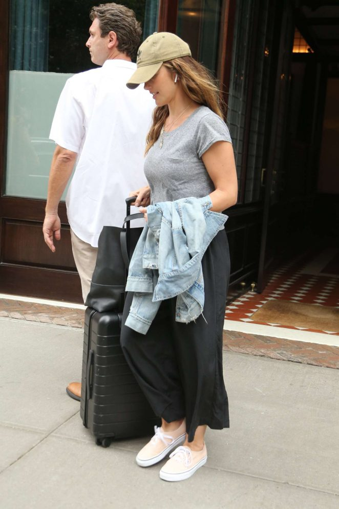 Minka Kelly - Leaving Greenwich Hotel in New York