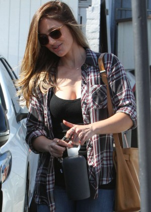 Minka Kelly - Leaving Meche Salon in Beverly Hills
