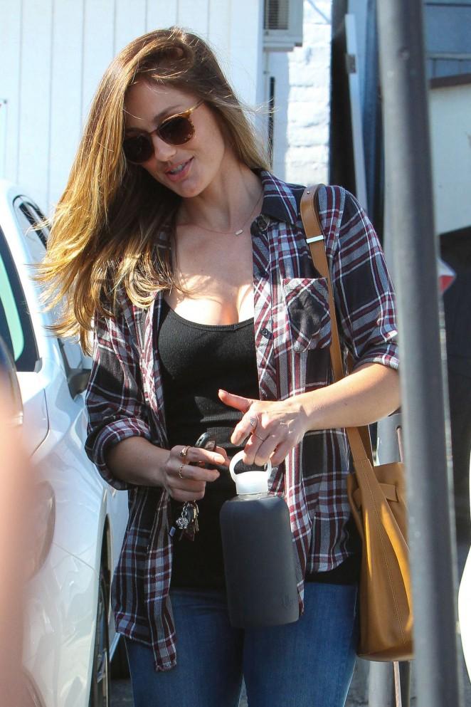 Minka Kelly - Leaving Meche Salon in Beverly Hills
