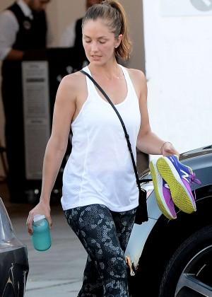 Minka Kelly in Tight Leggings Leaving Rise Movement Gym