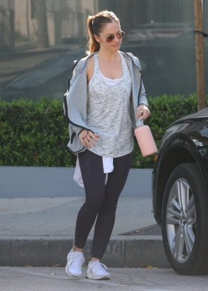 Minka Kelly - Leaving the gym in West Hollywood